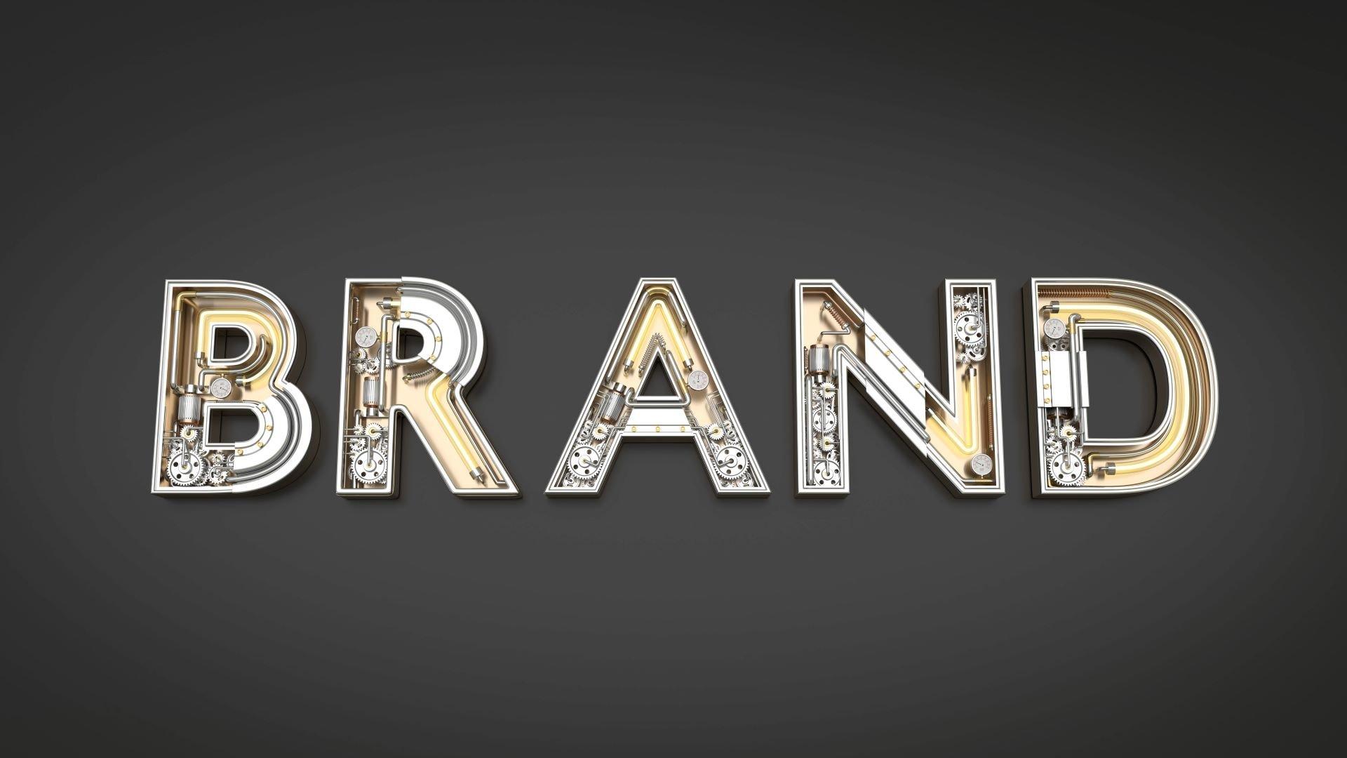Artistic rendering of the inner mechanical gears of business branding