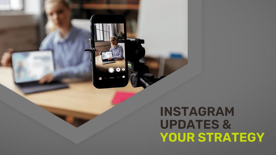 Digital marketing manager filming a strategic Instagram Reel in her office